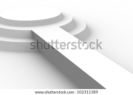 Empty white podium - stock photo
