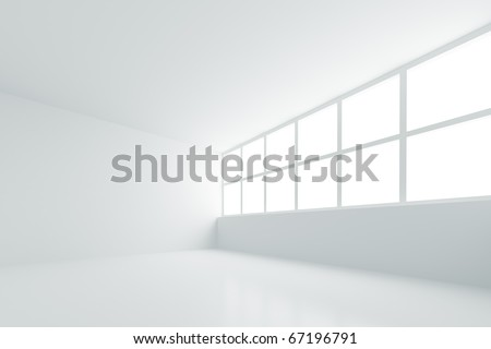 Empty White Room - stock photo