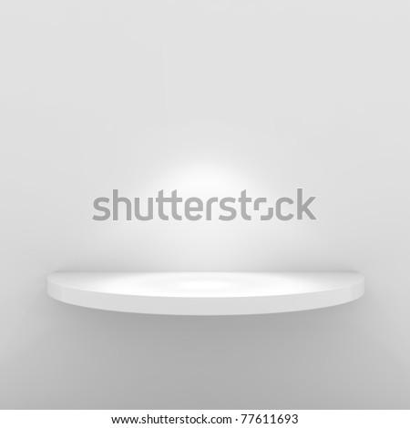 Empty White Shelf - 3d illustration - stock photo
