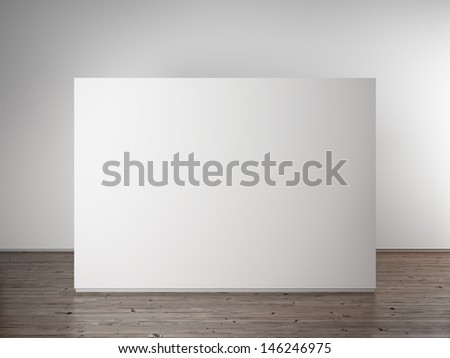 Empty white wall - stock photo