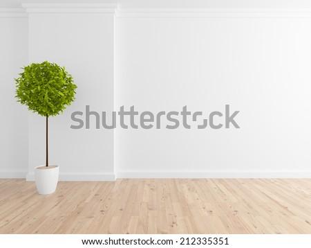 empty white wall - stock photo