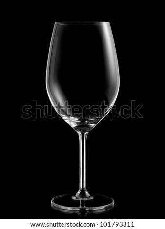 Empty white wine glass - stock photo
