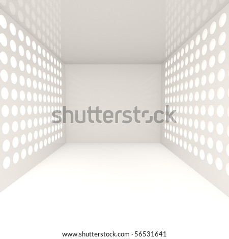 Empty Wide Interior - 3d illustration