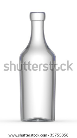 Empty wine bottle - stock photo