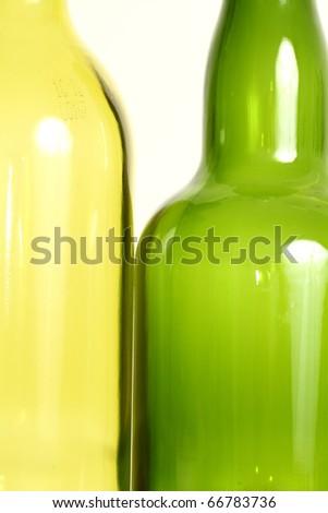 Empty wine bottle isolated on white background - stock photo