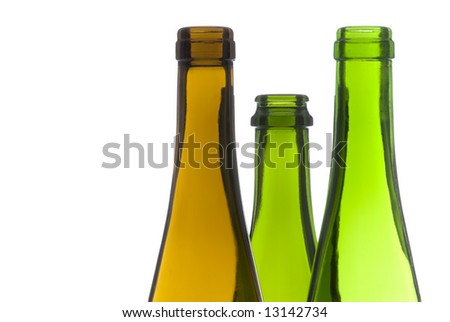 Empty Wine Bottles Back Lit