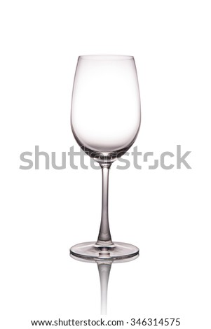 Empty wine glass. - stock photo