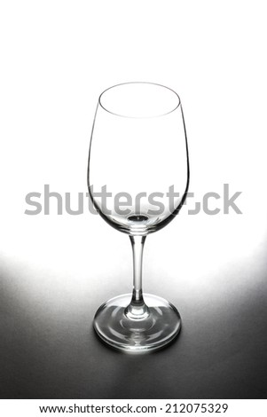 empty wine glass,empty glass - stock photo