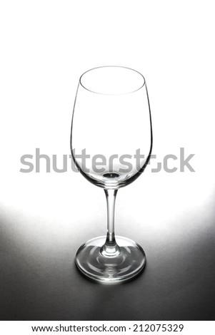 empty wine glass,empty glass - stock photo