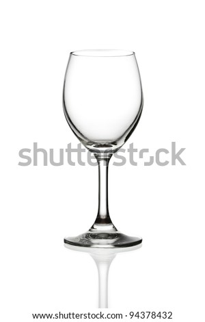empty wine glass isolated - stock photo