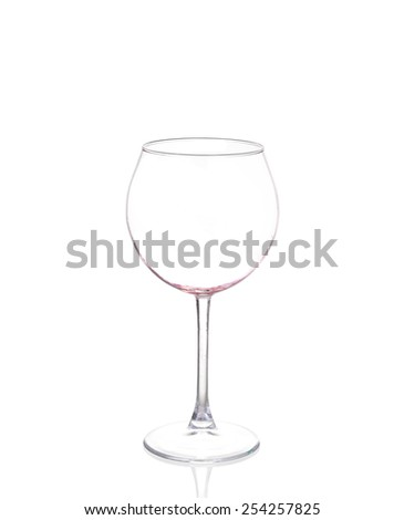 Empty wine glass, isolated on a white background - stock photo