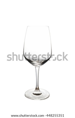 Empty wine glass. isolated on a white background. clipping path - stock photo