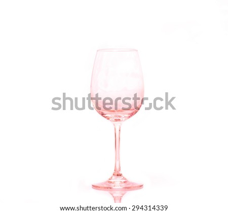 empty wine glass with filter - stock photo