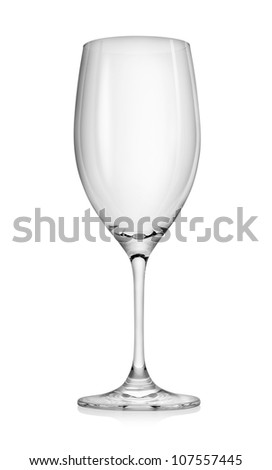 Empty wineglass isolated on a white background