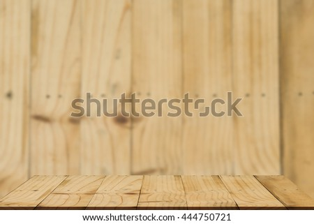 Empty wood floor with background