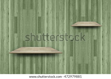 Empty wood shelf parquet background for design and background.