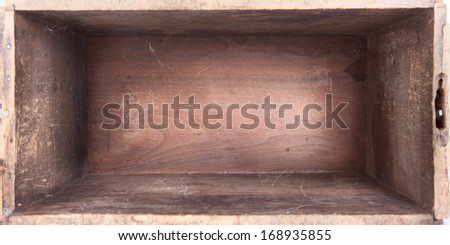 empty wooden box inside view - stock photo