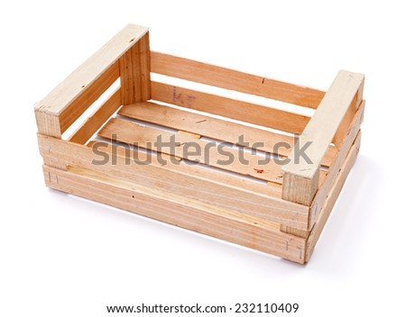 Empty wooden crate for fruits and vegetables - stock photo