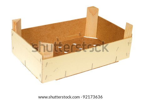 Empty wooden crate,isolated against background - stock photo