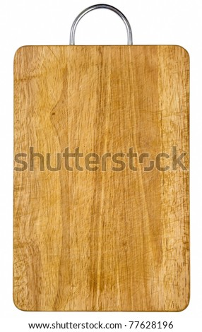 Empty wooden hardboard isolated with clipping path included - stock photo