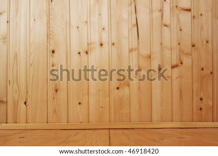Empty wooden interior