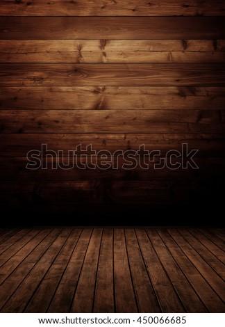 empty wooden interior room. - stock photo