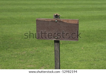 empty wooden sign - stock photo