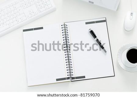 Empty workplace - stock photo