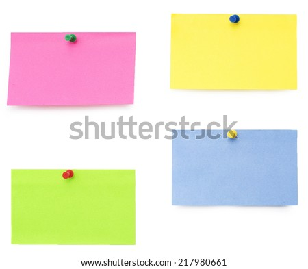 empty yellow blank isolated over white background - stock photo