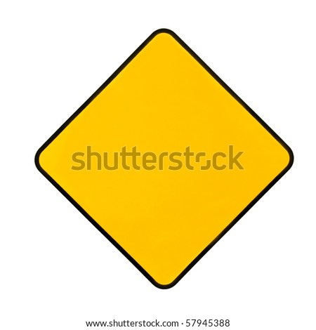 Empty yellow warning sign. Add any word you want... - stock photo