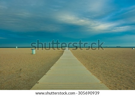 Empuriabrava Beach in costa brava girona catalonia spain - stock photo