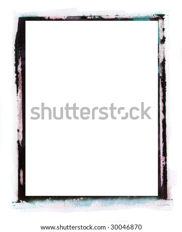 emulsion transfer border like old  instant photo border - stock photo