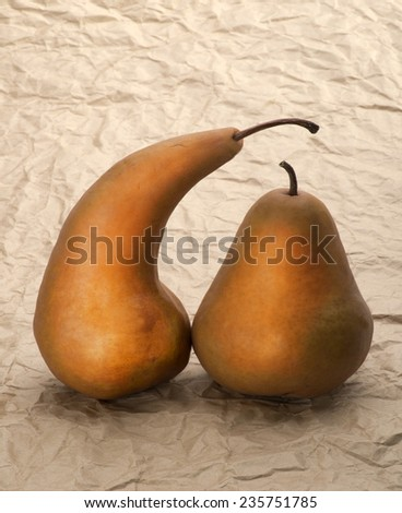 Enamored pears on wedding courtship - stock photo