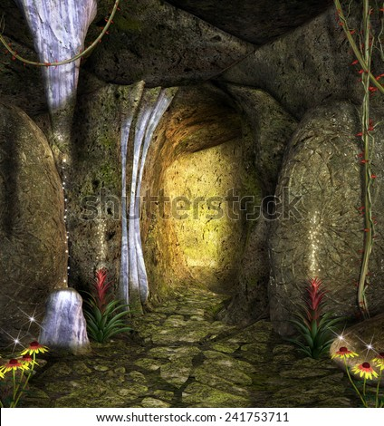 Enchanted cave - stock photo