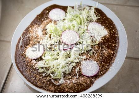 Enchiladas mole  - stock photo