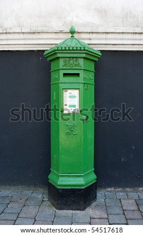 Encourage mail this Saint Patricks Day with a Nineteenth century Irish Postbox - stock photo