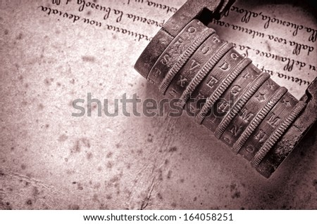 encryption vintage style - stock photo