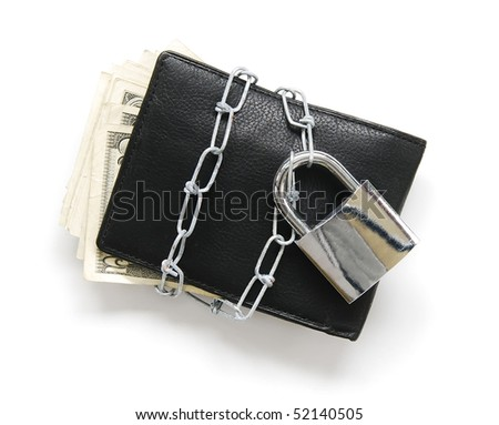 end of personal spending - stock photo