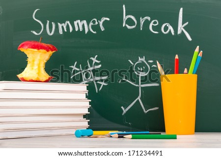 End of school. Summer break time. - stock photo