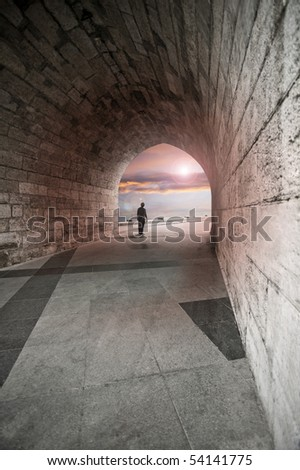 End of the Tunnel - stock photo