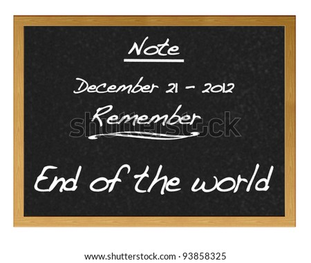 End of the world. - stock photo