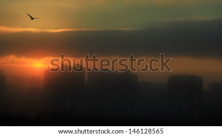 End of the world morning - stock photo