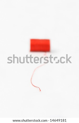 end of thread - stock photo