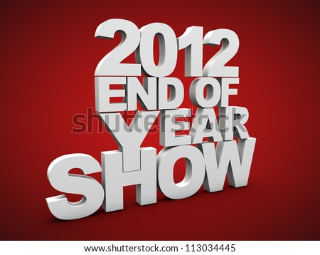 End of year show over red background - stock photo