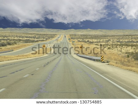 Endless country highway in Texas, USA - stock photo