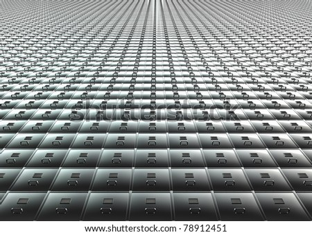 Endless filing system - stock photo