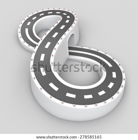 Endless road in the form of eight - stock photo
