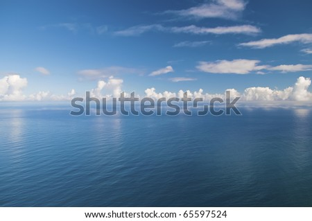 Endless sea, infinite horizon, Atlantic ocean, Portugal - stock photo