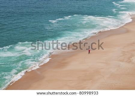 Endless sea, infinite horizon, Atlantic ocean, Portugal - stock photo