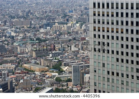 Endless Tokyo Sprawl from Above, Japan. - stock photo